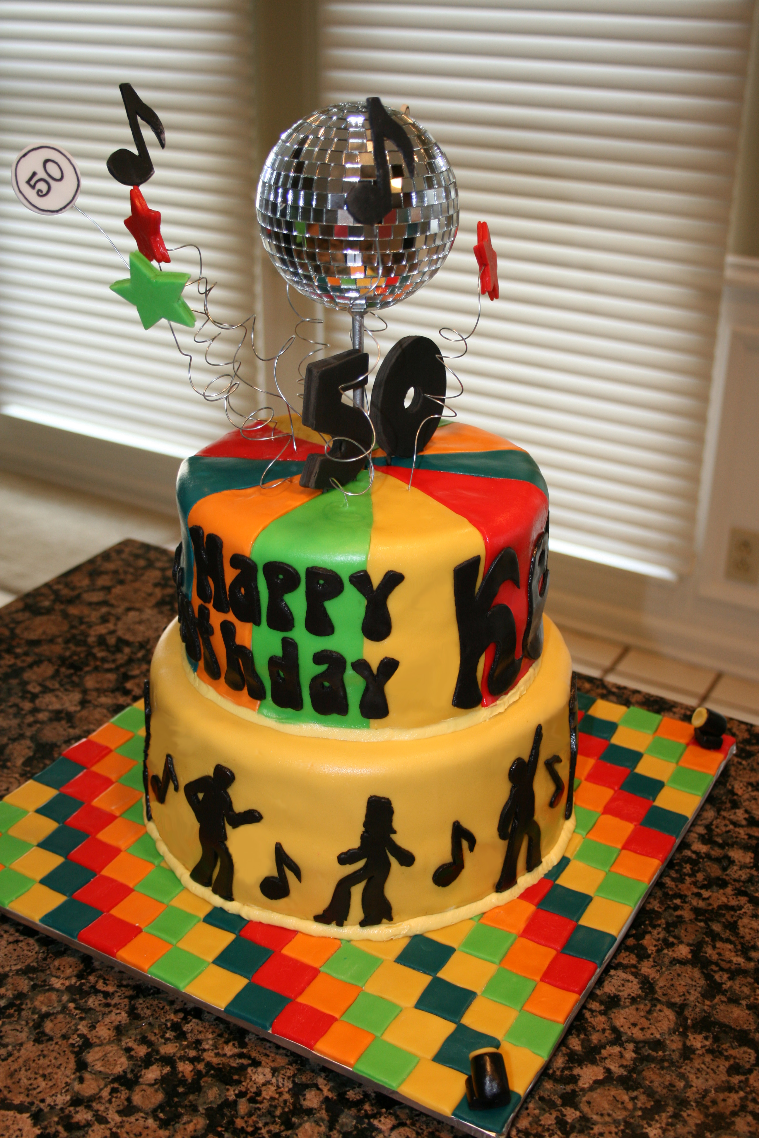 Disco Birthday Cake Toppers