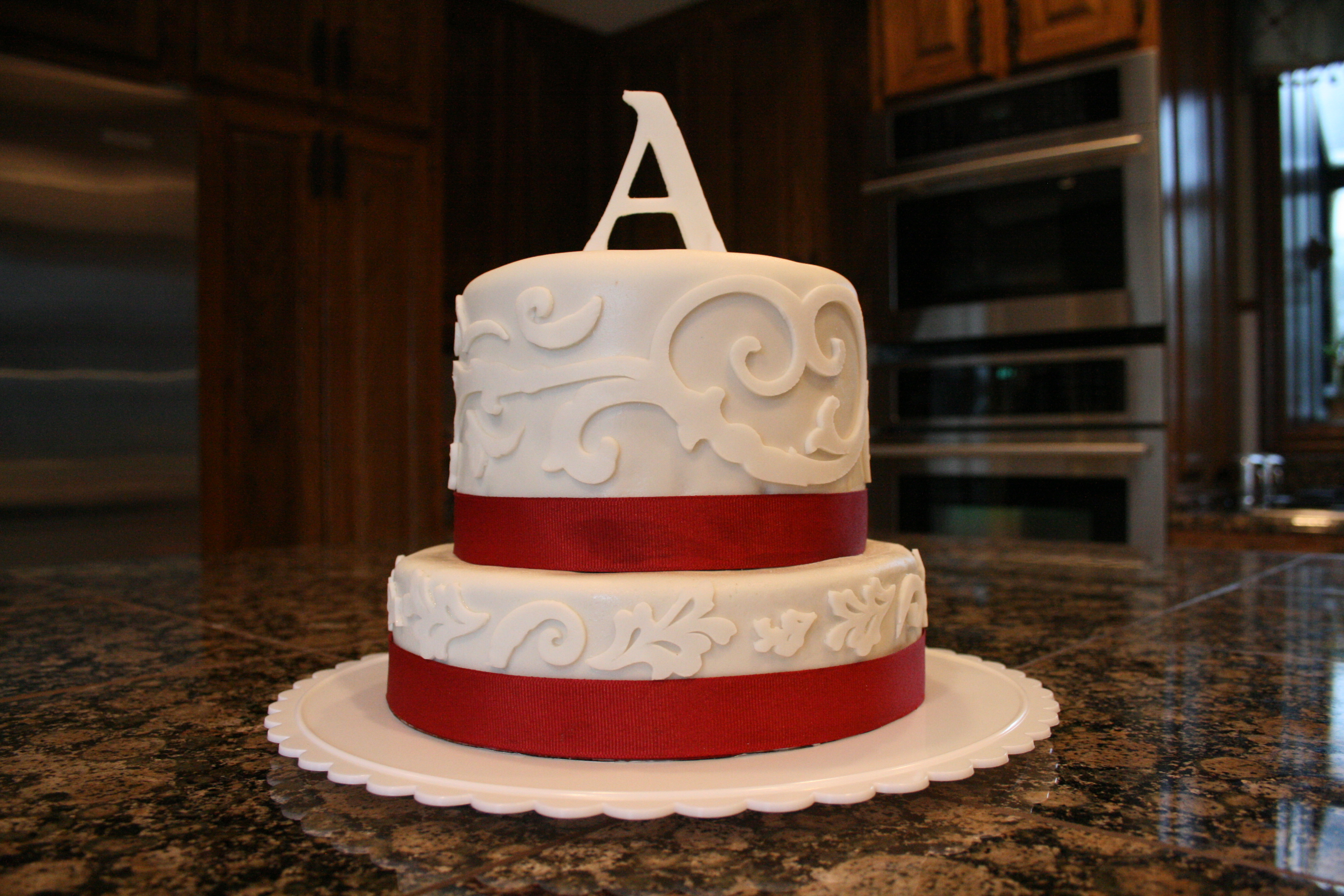 Birthday Cake Images For A : Letter Cake A Creative Mom!